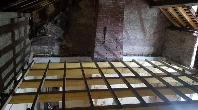 creation plancher bois
